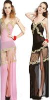 Women's fashion full dress sauna sexy clothes ktv evening dress long slim design
