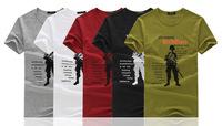 Printing Short-sleeve Men t shirt 2014 New Fashion Men's Clothing  t-shirts Man Tees t-shirt  Free Shipping