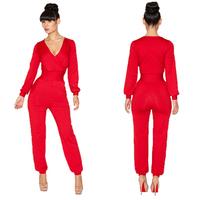 Free Shipping 2014 Spring New Women's Nightclub Stunning Dress High-grade Fashion Bandage Jumpsuit S,M,L RG1402052