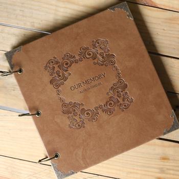 Новое поступление высококачественной кожи ручной поделки подарок фотоальбом книга ...