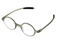 Round Retro Reading Glasses Gray TR 90 Frame +1.0 +1.5 +2.0 +2.5 +3.0 +3.5 New
