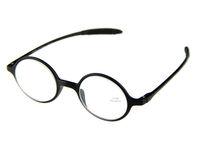 Round Retro Reading Glasses Black TR90 Frame +1.0 +1.5 +2.0 +2.5 +3.0 +3.5