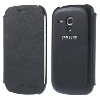 free shipping 10pc/tvc-mall for Samsung Galaxy S3 Mini I8190 Protective Side Flip Leather Case