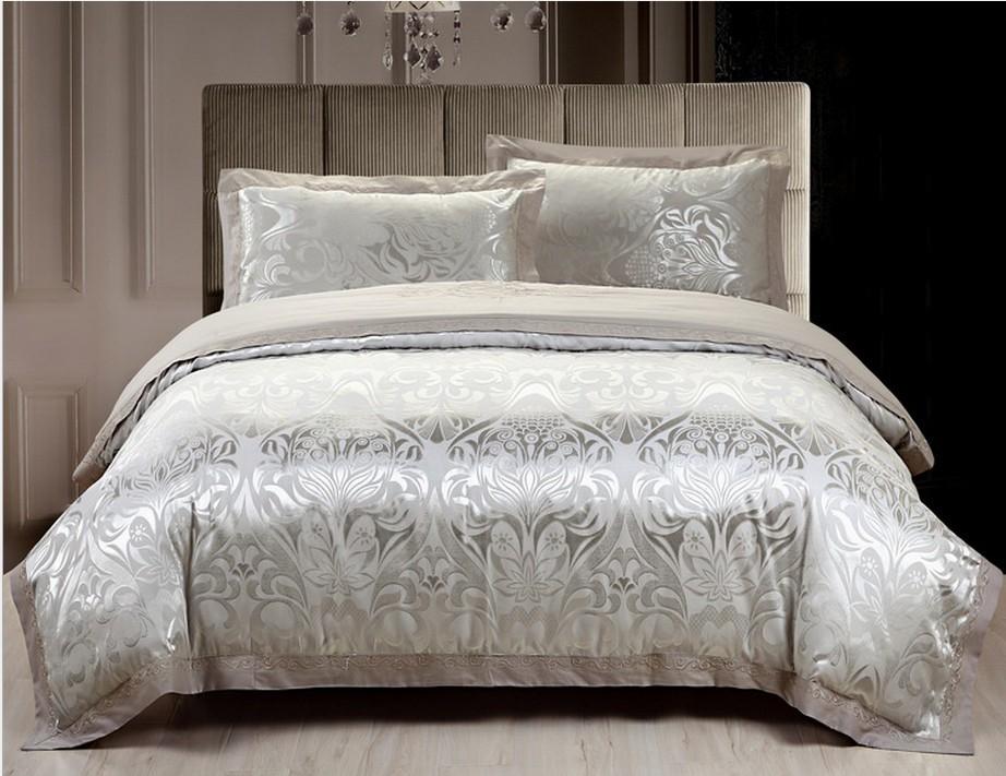 2014 new tencel bedding 4-piece bedsets suit cotton satin silk big jacquard bedrug embroidered floral fashion bedding sets(China (Mainland))