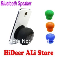 Mini Portable Bluetooth Speaker Wireless Mushroom Waterproof Silicone Suction Holder Hand-free Car kit Cute Stand Design