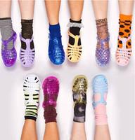 Vintage 2014 hot-selling plastic jelly sandals hole shoes multicolour women flat heel sandals