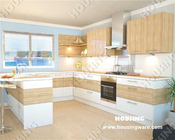 kitchen cabinet modern kitchen cabinet island laminated door modular kitchen cabinet customize(China (Mainland))