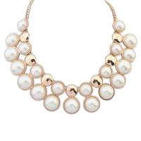 Fashion short elegant exquisite design all-match pearl necklace