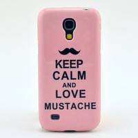 TPU Case For Samsung Galaxy S4 Mini KEEP CALM Pattern Mobile Phone Cases Covers Fit SV I9190 Free Shipping