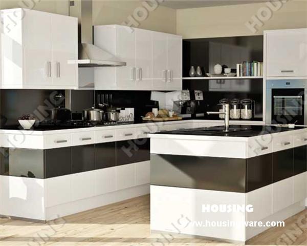 Online kopen wholesale laminaat keuken deuren uit china laminaat keuken deuren groothandel - Moderne keukenkast ...