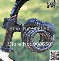 Mountain bike bicycle lock alarm portable combination locks chain mtb bikes motorcycles accessories steel password