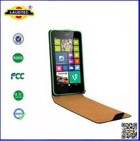 Real leather Wallet  Case For Nokia Lumia 630 635,Genuine leather case, Free shipping