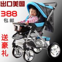 Baby stroller pram four wheel two-way light folding full shock absorbers