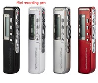 Wholesale - New USB Digital Activated Voice Recorder Mp3 player Dictaphone 4GB Black Support multiple audio format 2PCS/LOT