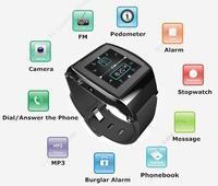 Free Shipping!!Mobile Phone Sync Bluetooth Watch + Sport Pedometer Smart Stopwatch W/ Camera FM MP3