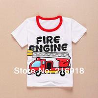 Hot Sale 2014 Summer New Fashion Child t-shirt boy & girl short-sleeve 100% cotton cartoon top t-shirt male kid's clothing tees
