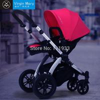 Luxurious bidirectional four wheel baby stroller pushchair large