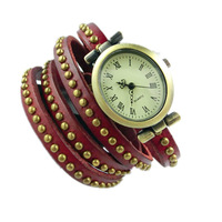 15% off PB007 Vintage Watch Long leather Strap Casual Watches Rivet Analog dress watch Bronze quartz watches,wristwatches