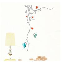Wall sticker fashion romantic home decoration butterfly flower vine three generations of 6614 jm flat