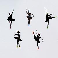 Ballet sticker wallpaper wall stickers cartoon diy8344 jm