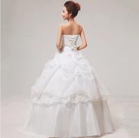 2014 spring summer wedding dresses factory new fashion style sweet princess flare wedding gown retro lotus women summer wedding