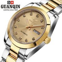Brand Luxury Original Designer Women automatic watch Waterproof CZ Diamond sapphire gold watches lover wedding wristwatch gift
