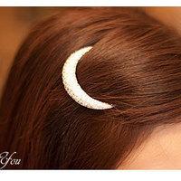 Rhinestone moon hair clips hair pin brief clip bangs frog clip n16