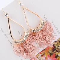 Beautiful ! cutout sweet small flower  earrings