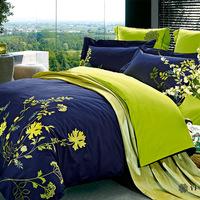 Embroidered luxury duvet cover set flower pattern bedding set high quality bed sheet bed set