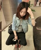 523 all-match half sleeve denim top outerwear female fashion outerwear denim coat