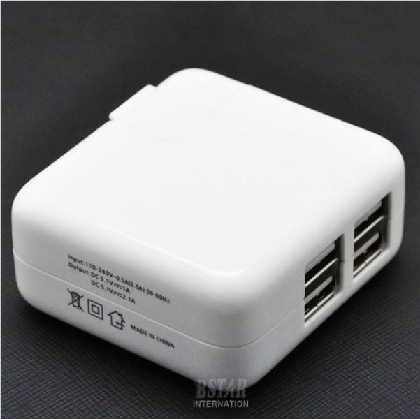 Зарядное устройство для мобильных телефонов 4 USB Apple iPad 1 2 3 4 iPad mini iPhone 4 4S 5 5S 6 6 XC1056 ipad 4 in 1 photo lens