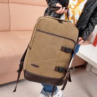 Canvas backpack preppy style vintage messenger  laptop bag student school bag