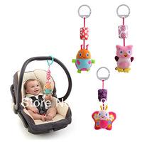 free shipping baby bed hang car bells plush toy  baby bed circle