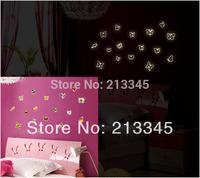 [Saturday Mall - glow in the dark wall sticker cartoon children room decoration home decals luminous butterfly 0025