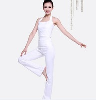 Free shipping 163 Summer 2014 yoga suit for women White master yoga workout clothes Elegant white India yoga outdoors