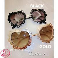 D-4114 Fashion Woman sunglasses New Exclusive Models Lace Love Alloy Sunglasses Female Accessories Women Brand Designer glasses