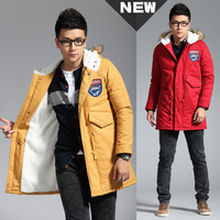 2014 New Arrival Korea Style Thicken Cotton Jacket Slim and long sections thick hooded coat Korean casual cotton jacket