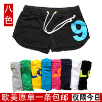 Female sports yoga shorts home fitness running casual sexy beach shorts 100% cotton plus size