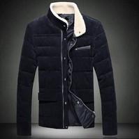 2014 New Arrival Korea Style Thicken Cotton Jacket Men's corduroy coat thick padded cotton jacket Korean Slim Jacket