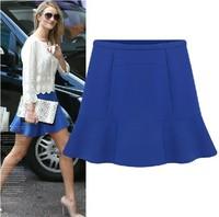 Plus Size 2014 Women Runway Skirt European Style High Waist Ball Gown Ruffles Fluffy Mini Short Women's Skirts S M L XL XXL