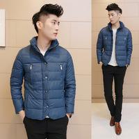 2014 New Arrival Korea Style Thicken Cotton Jacket Double zipper tide grade cotton padded cotton jacket collar jacket