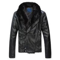 2014 New Arrival Korea Style Thicken Cotton Jacket Korean Slim leather jacket super warm upscale leather coat collar Nagymaros
