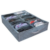 12 case transparent shoe bag Retail Bamboo Charcoal Storage Box for shoes B009