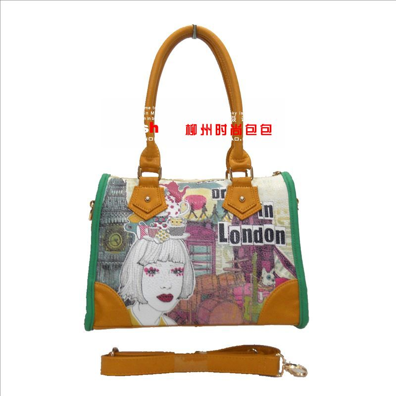 free shipping new 2014 women bag Women's handbag vitality messenger bag shoulder bag messenger bag beige 1819(China (Mainland))