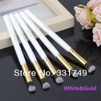 5pcs*SMALL Soft Brushes Pro Makeup Set Kits Kabuki cosmetics brusher Tools 1*Precision (Flat + Round + Angled + Tapered ) Brush