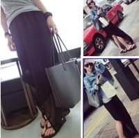 Women's summer chiffon irregular placketing full bust skirt