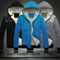 Free Shipping New Men's Cotton Winter Hoodies Dress Cardigan Coat Mens Sports Casual Sweatshirt Jackets Outerwear M~6XL