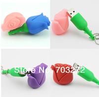 1pcs Full Capacity pen drive cartoon rose 2gb/4gb/8gb/16gb/32gb bulk flower usb flash drive flash memory stick pendrive