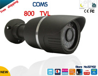 "Free shipping!security camera 1/3""  COMS 800TVL 36led menu waterproof cctv camera HD Outdoor security camera"