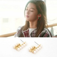 2014 rushed top fasion freeshipping gray new accessories stud earring earrings female